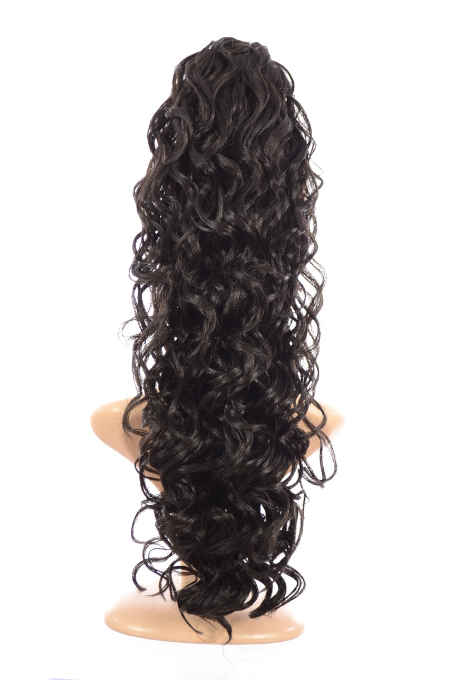 Claw Grip Ringlet Curly Hair Piece Ponytail Clip: Expresso