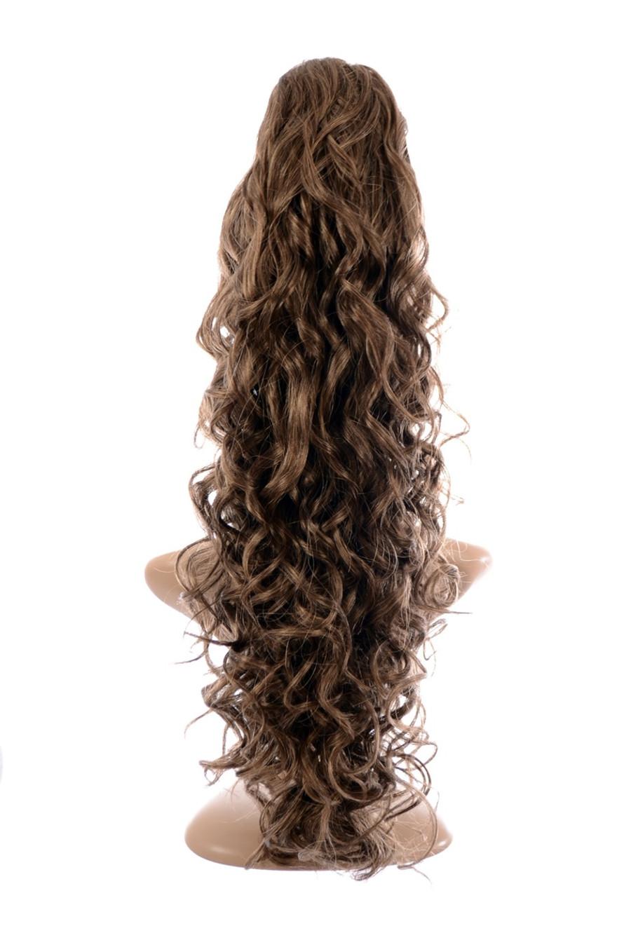 Claw Grip Ringlet Curly Hair Piece Ponytail Clip: Autumn Blonde