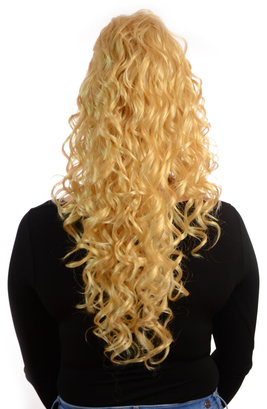 Claw Grip Ringlet Curly Hair Piece Ponytail Clip: Candy Blonde