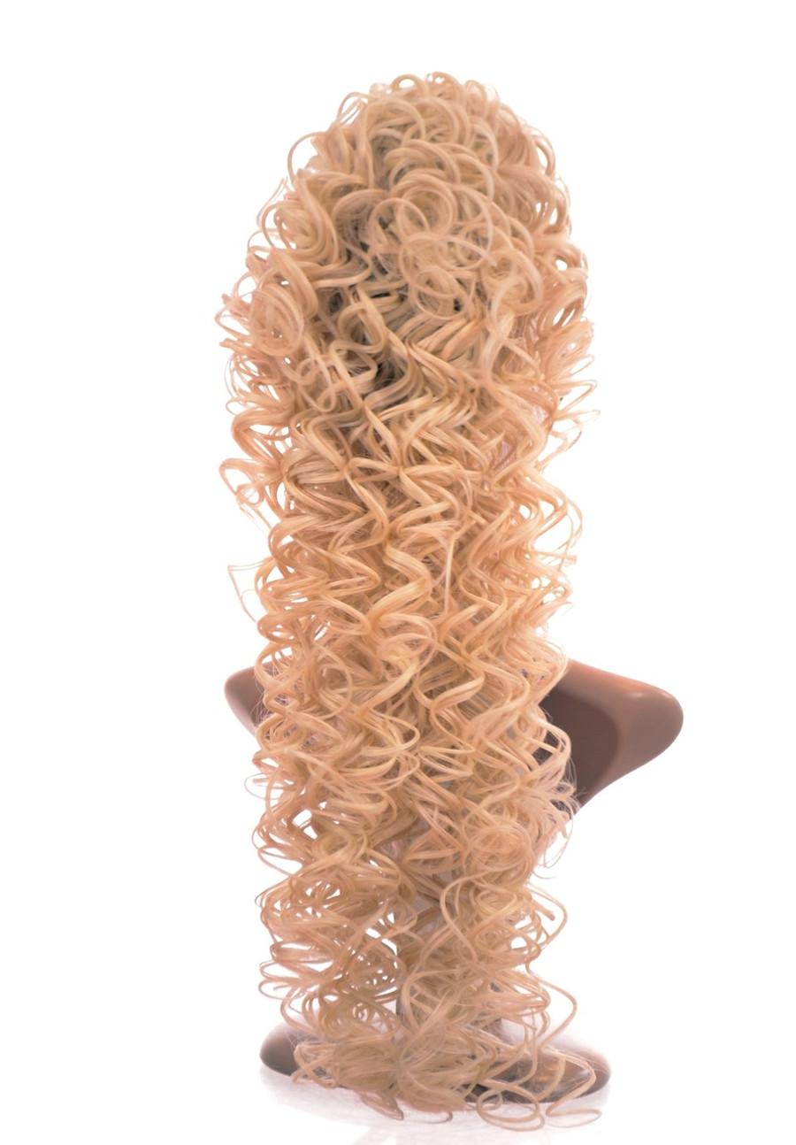 Irish Dance Style Spiral Curly Ponytail Platinum Blonde