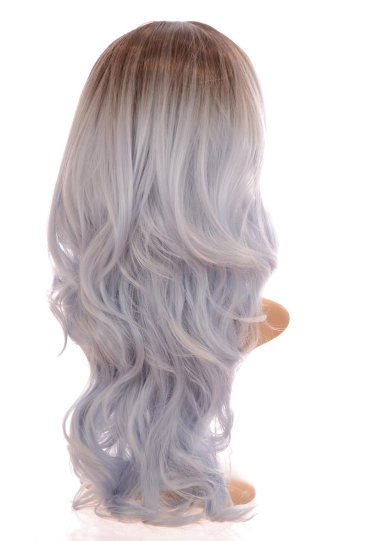 Kesha Rooted Pastel Blue Wig