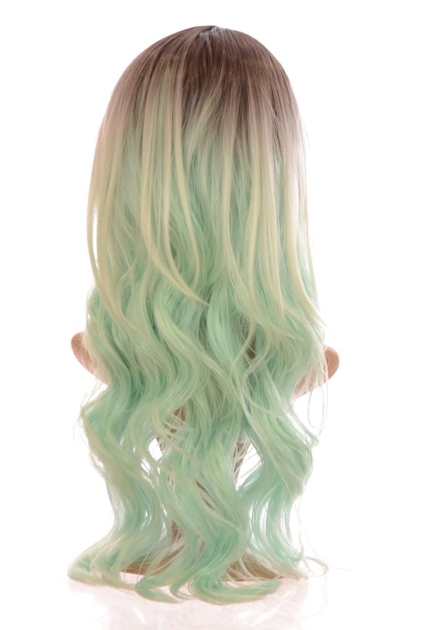 Kesha Rooted Mint Green Wig