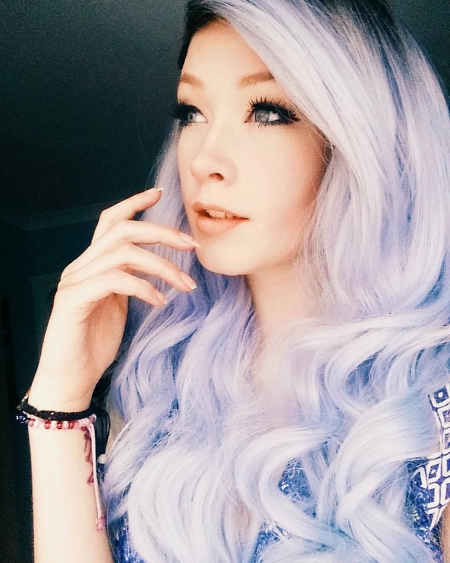 @giveme_a_warning wearing our Glacier Blue 'Kesha'