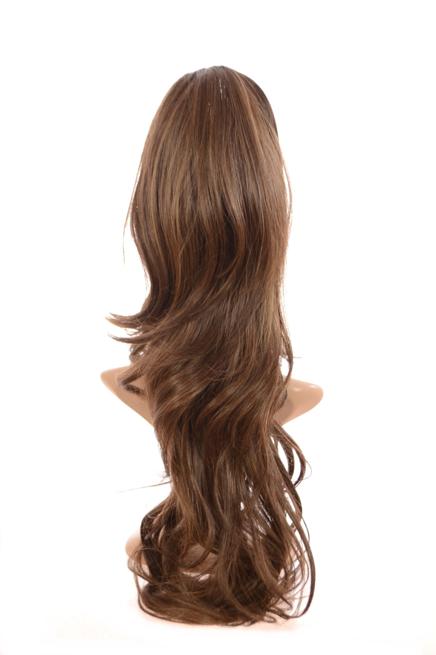 Volume Clip in Hairpiece Caramel Swirl Brown
