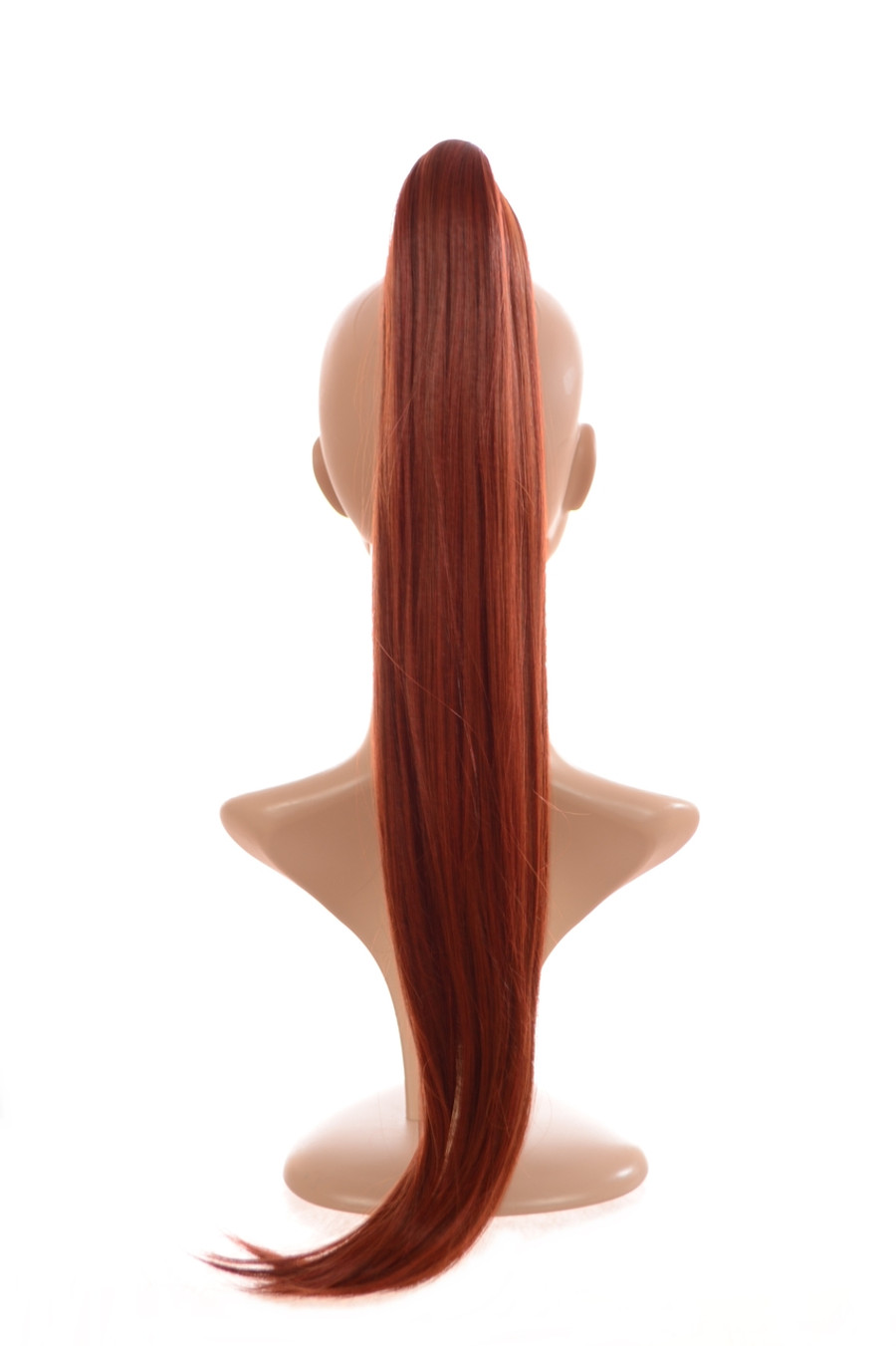 Snap Band Long Ponytail Henna Red
