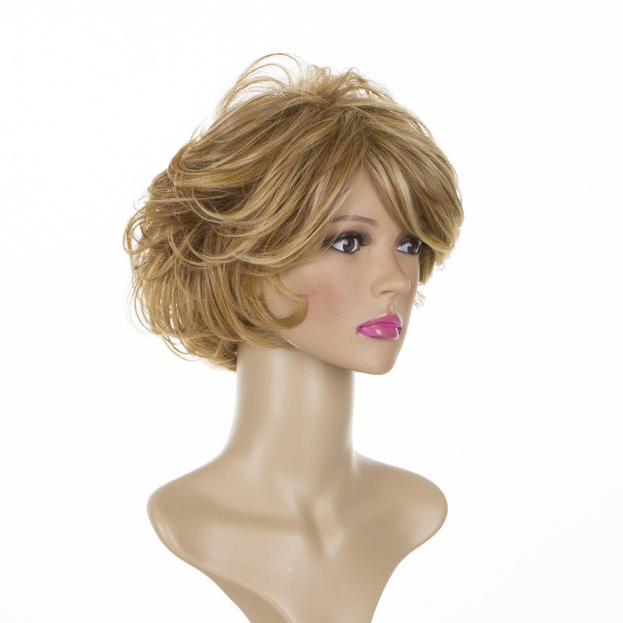Joan Whisper Blonde Mature Style Volume Wig