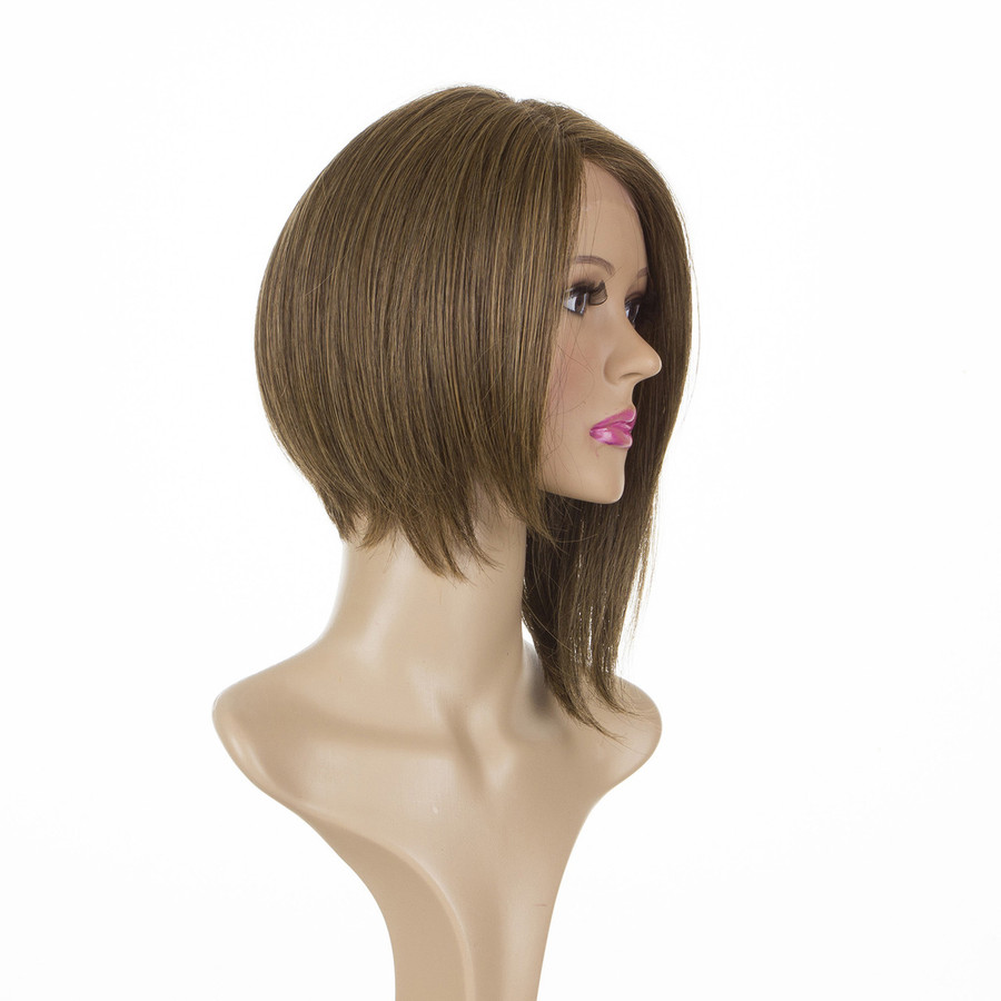 Victoria Dark Shaded Blonde Bob Lace Front Human Hair Blend Wig