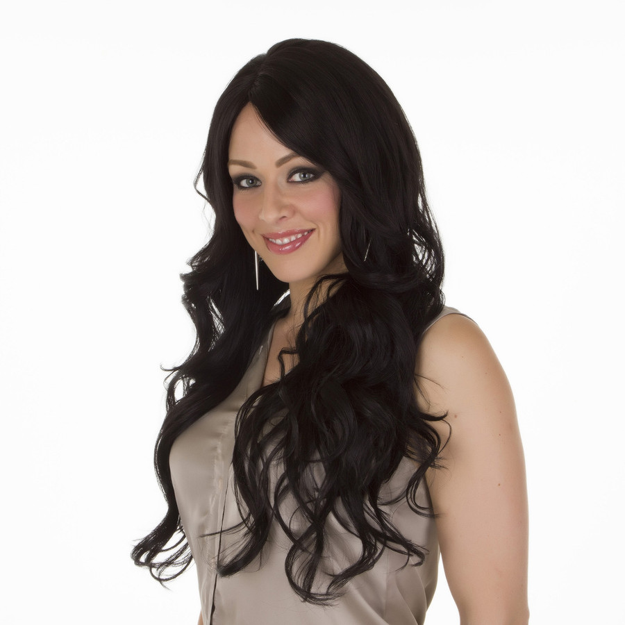 Scherzy Expresso Black Long Curly Lace Front Wig