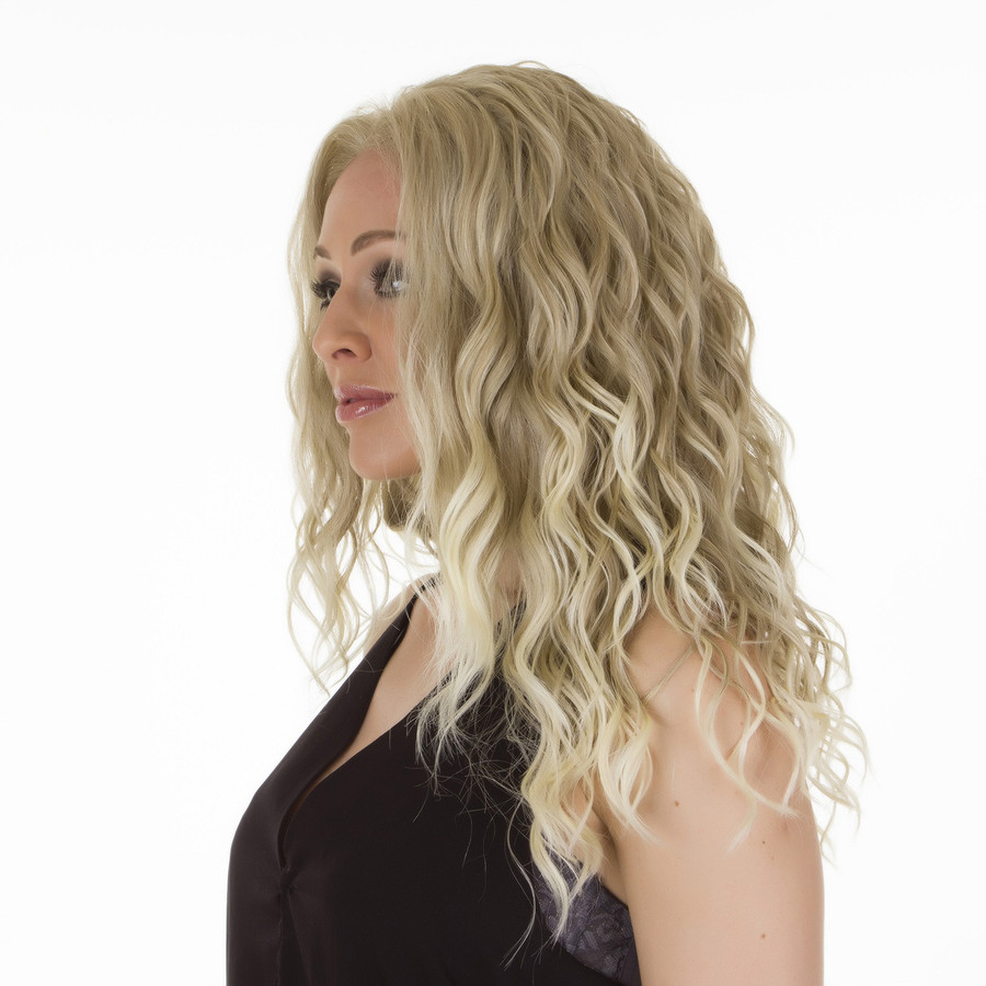 Biki Ombre Ash Blonde Lace Front Beach Wave Wig