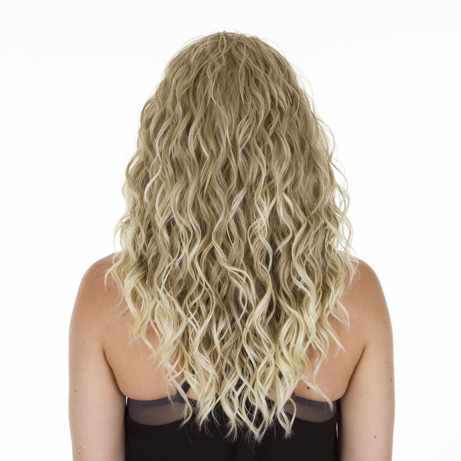 Biki Ombre Ash Blonde Beach Wave Wig