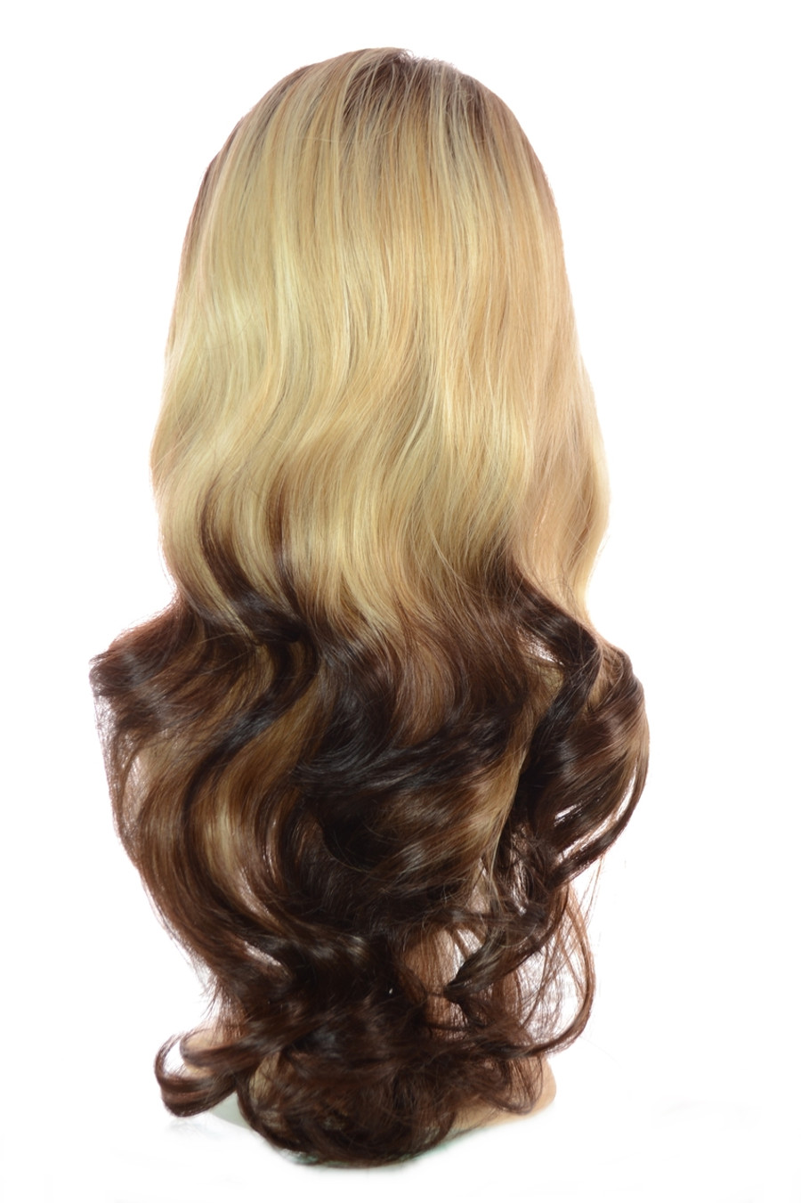 Tihaira Wave Gold Tipped Ombre Clip In Half Wig