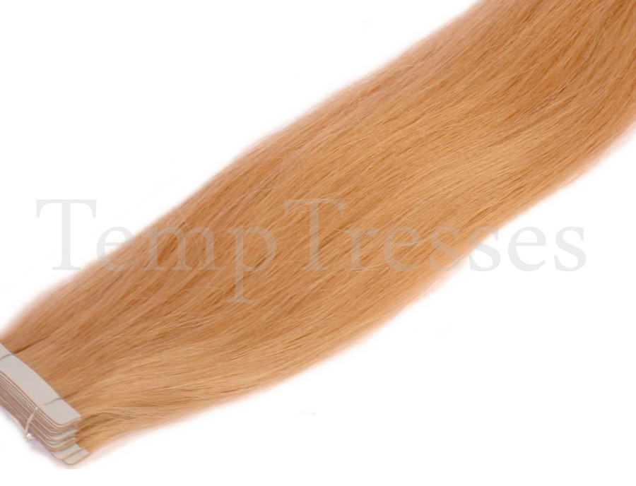 Shade 27 Blonde 100% Human Hair Tape In Hair Extensions