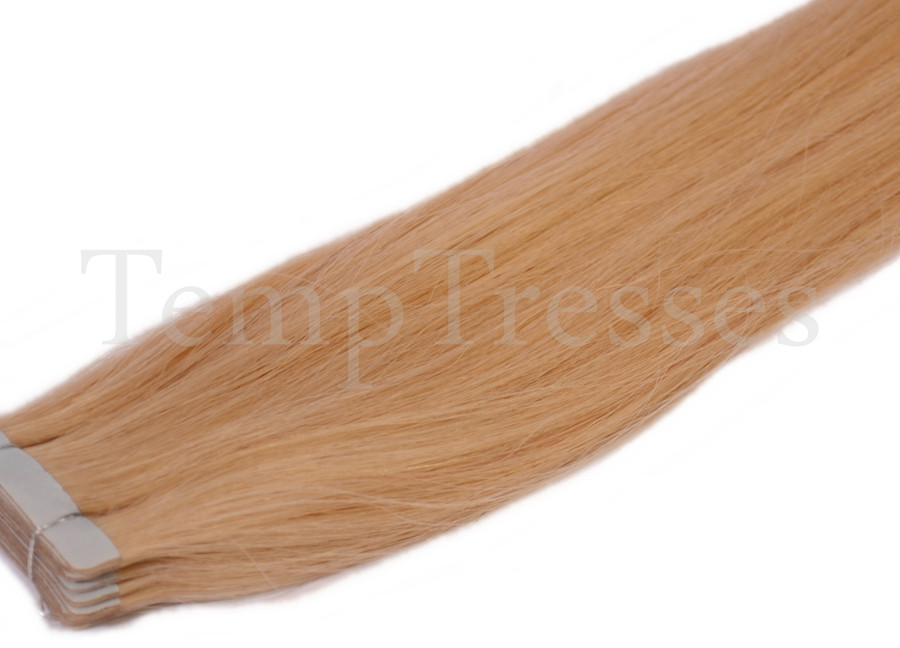 Shade 24 Blonde 100% Human Hair Tape In Hair Extensions