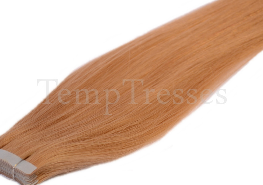 Shade 18 Blonde 100% Human Hair Tape In Hair Extensions