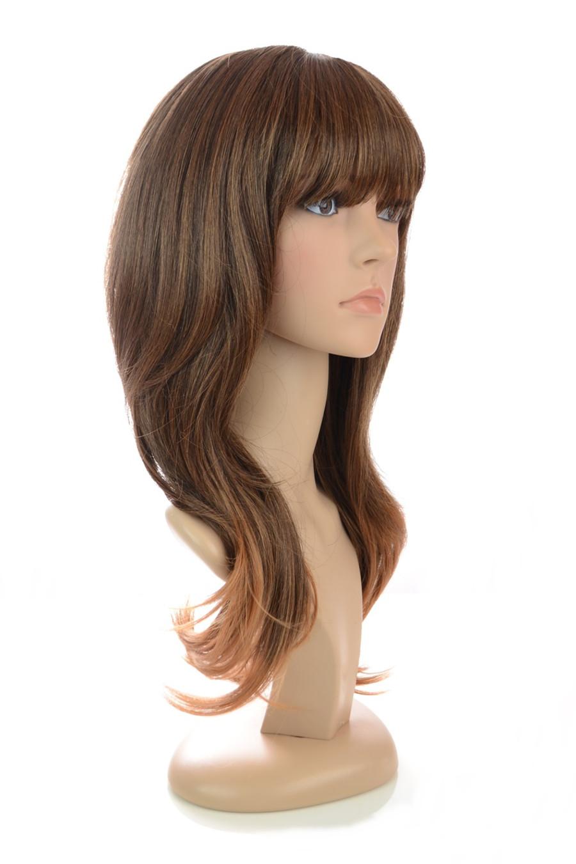 Bardot Wig Long Curly in Hawaiian Brown