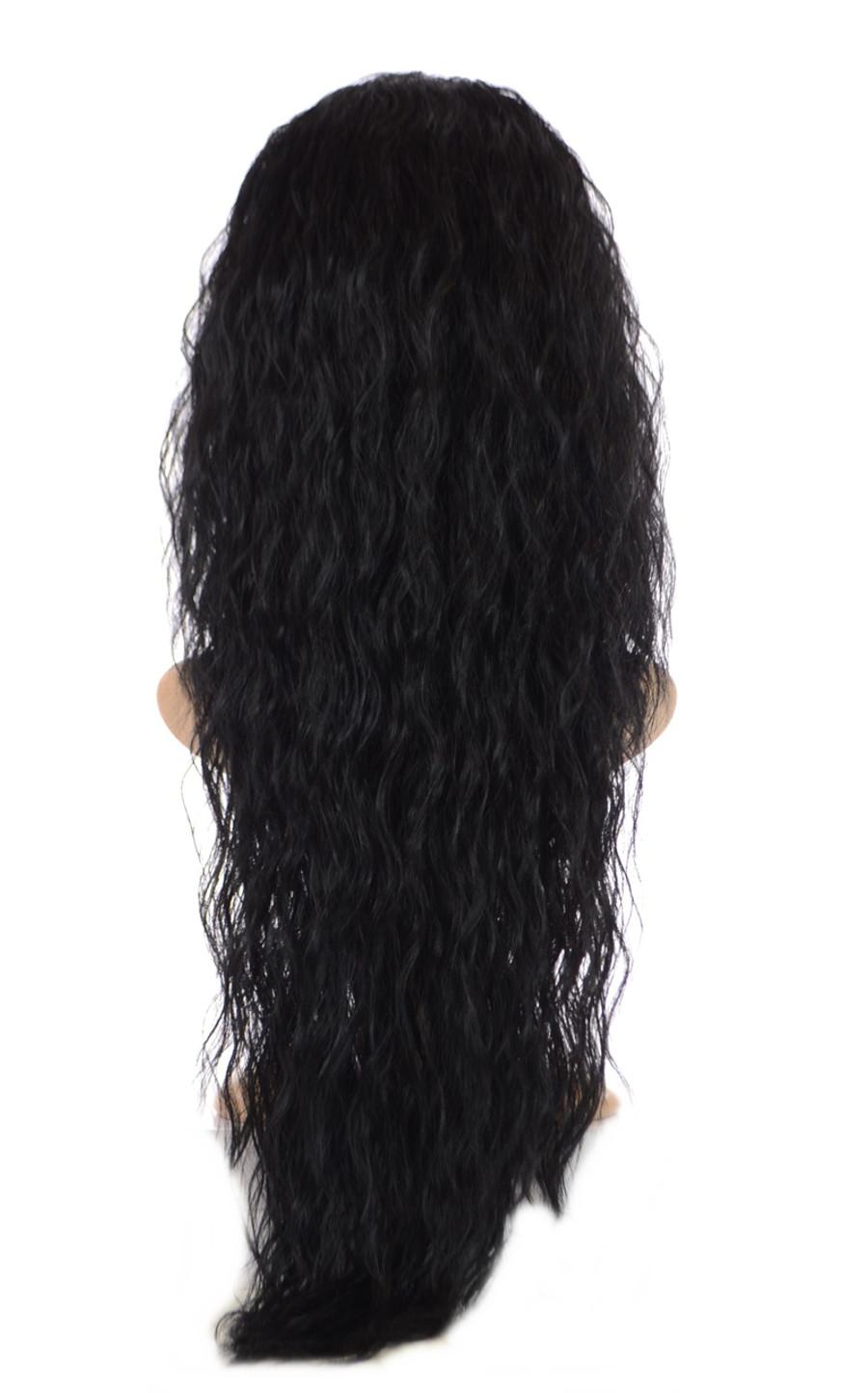 V Tress One Piece Egyptian Crimp Half Wig Inca Jet Black
