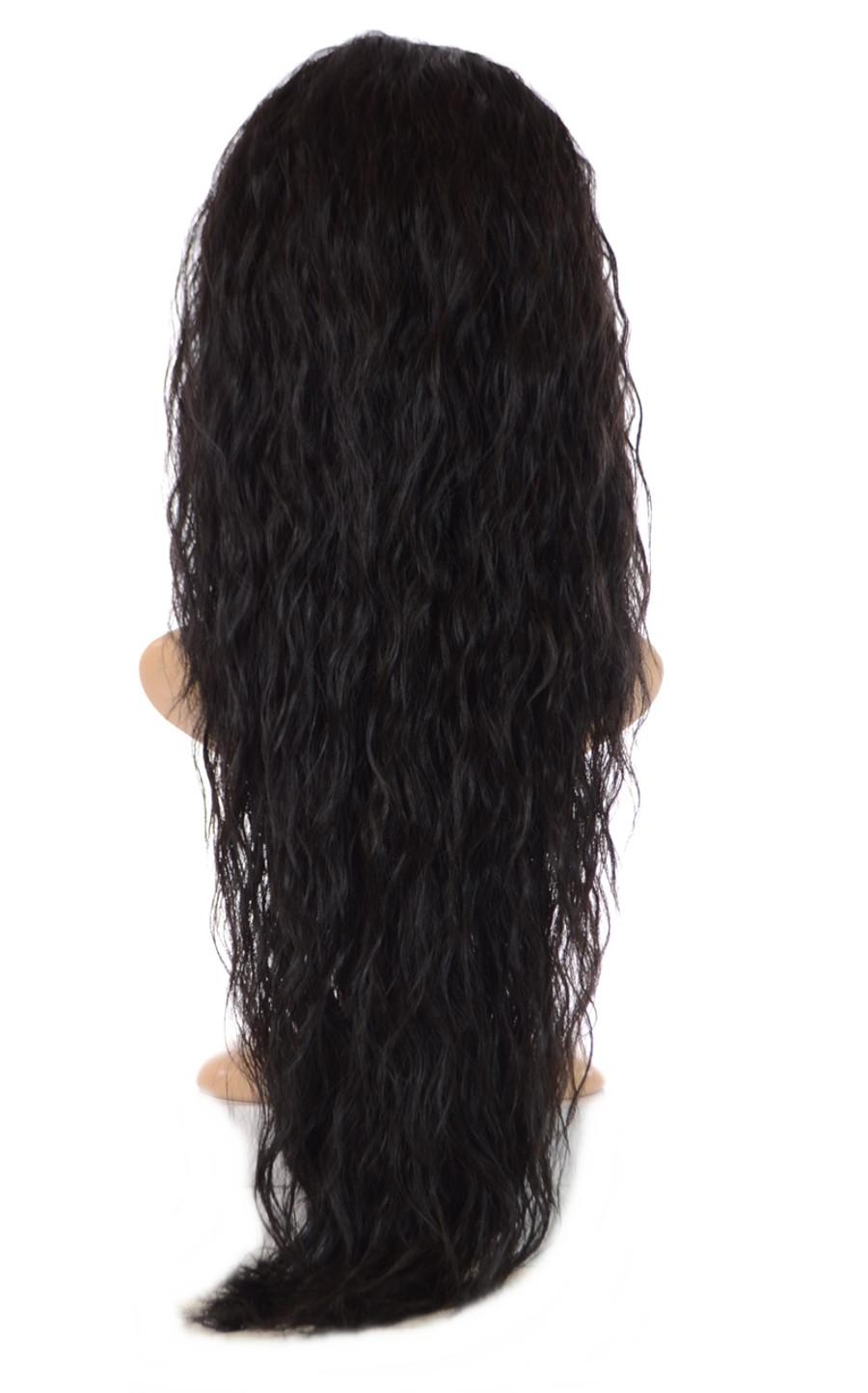 V Tress Crimp Texture One Weft Half Wig Expresso Black