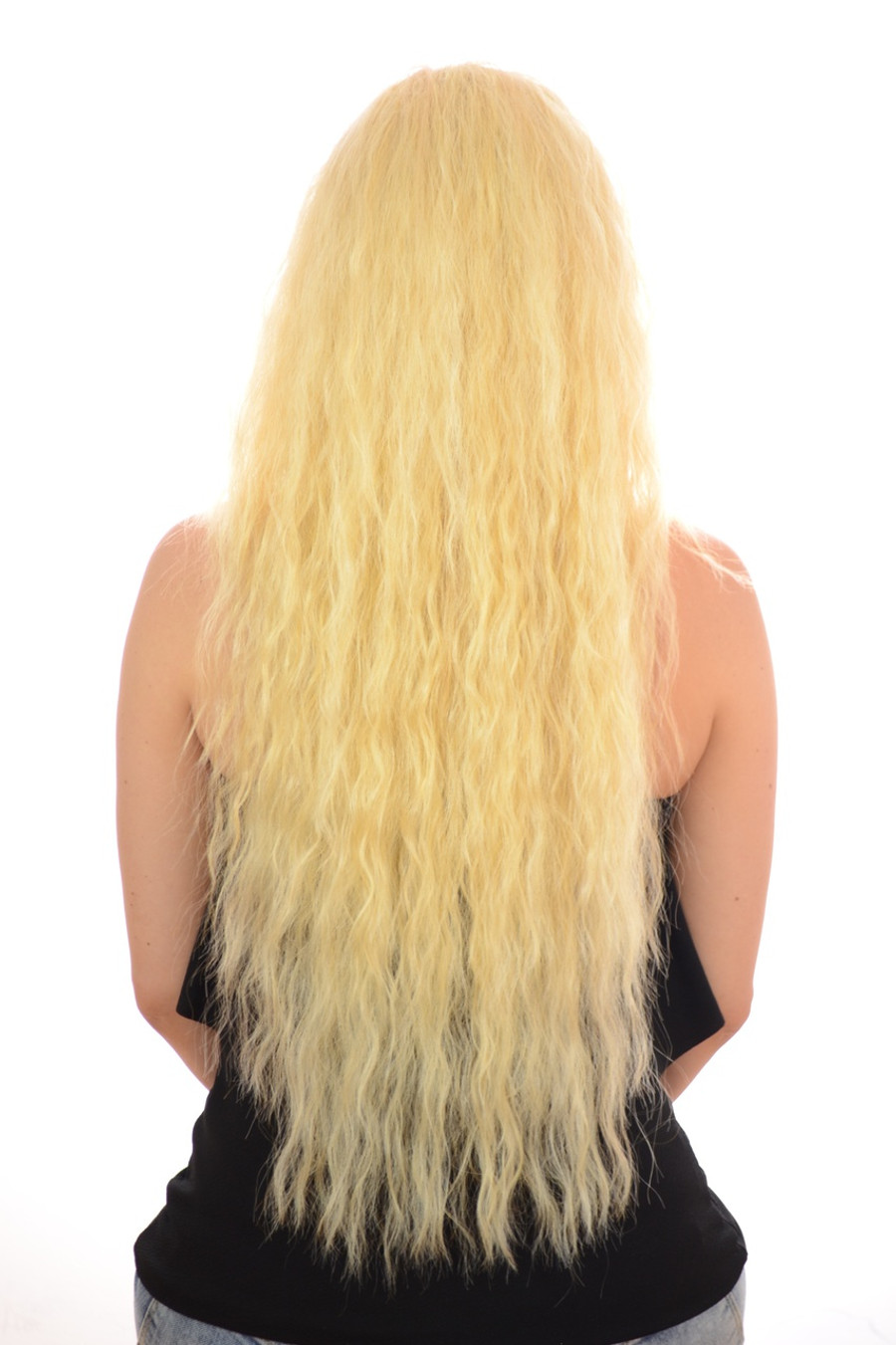 V Tress Crimp Texture One Weft Hair Extension Candy Blonde