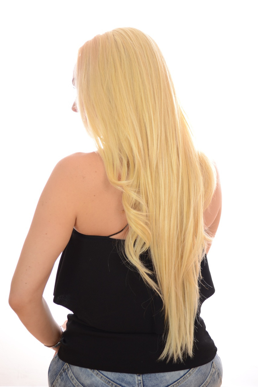 V Tress Weft Hair Extension Candy Blonde