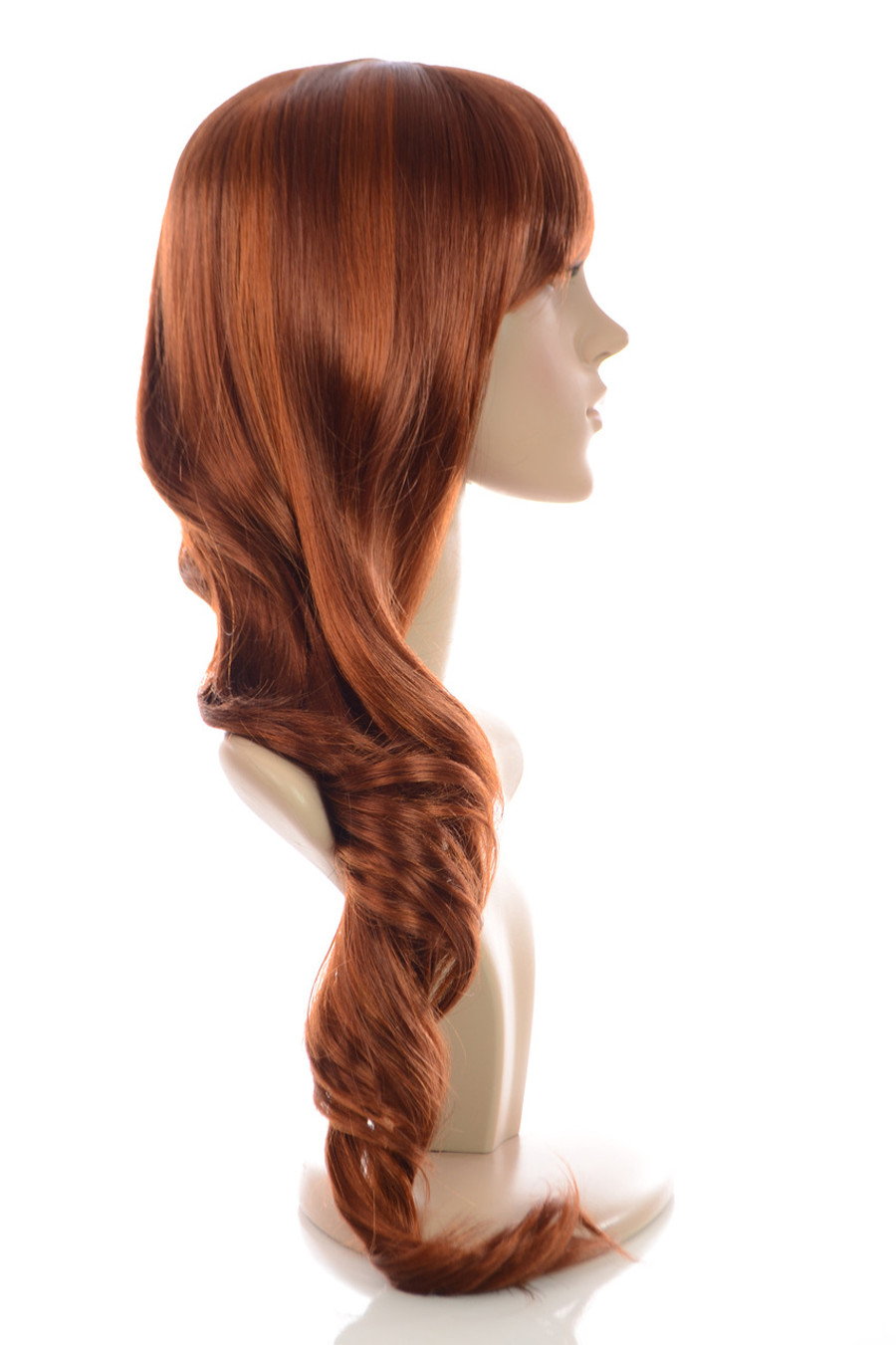 Fearne Ginger Wig Side View