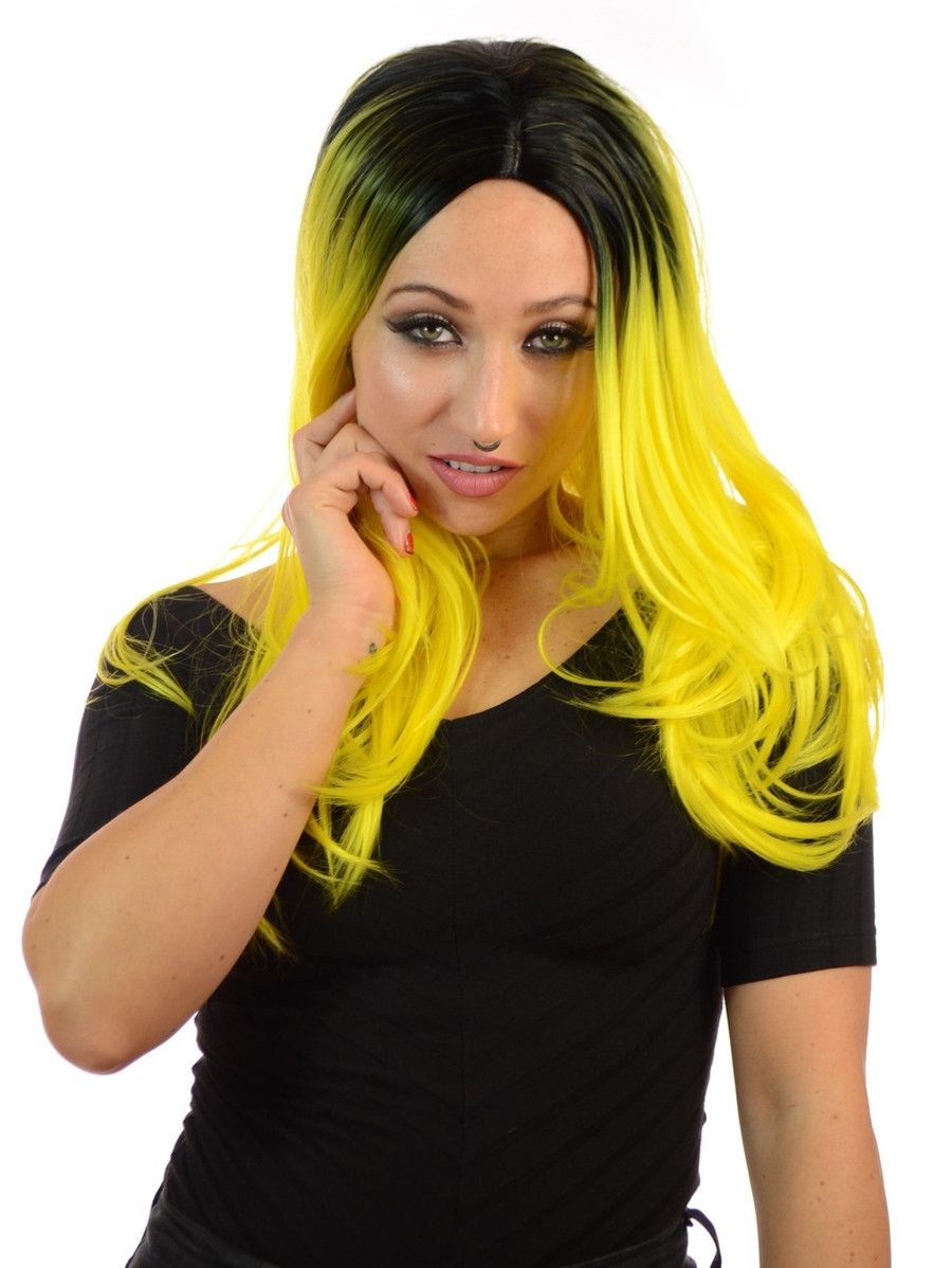 Snooki Rooted Forsythia Yellow Wig