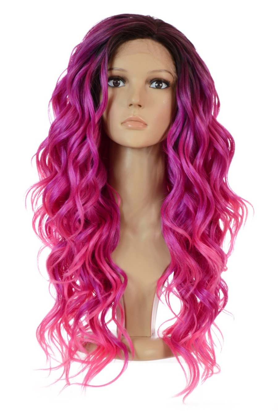 Pink Curly Wig Carnival-Doll Fuchsia