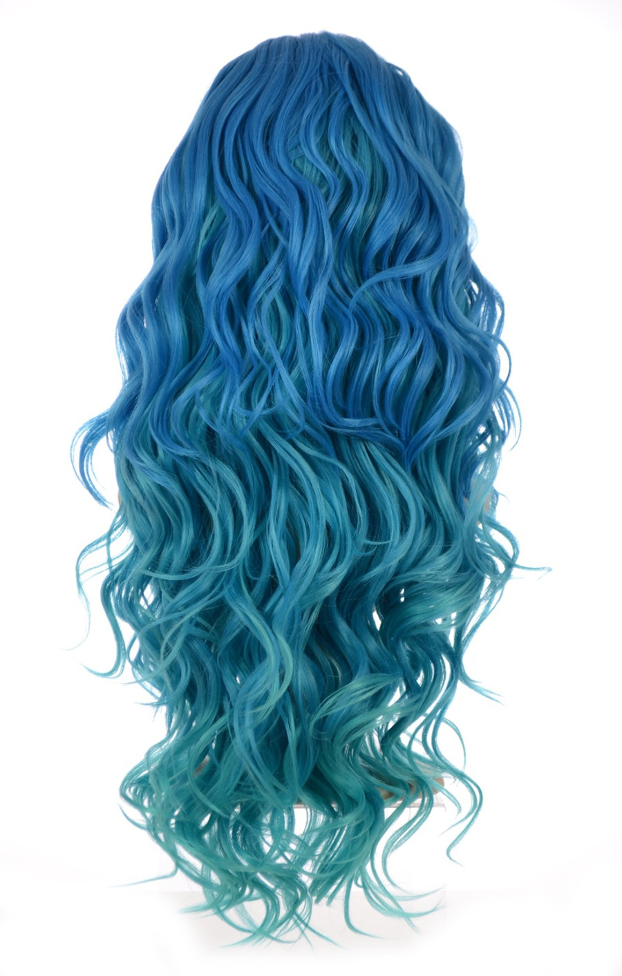 Curly Blue Wig Carnival-Doll