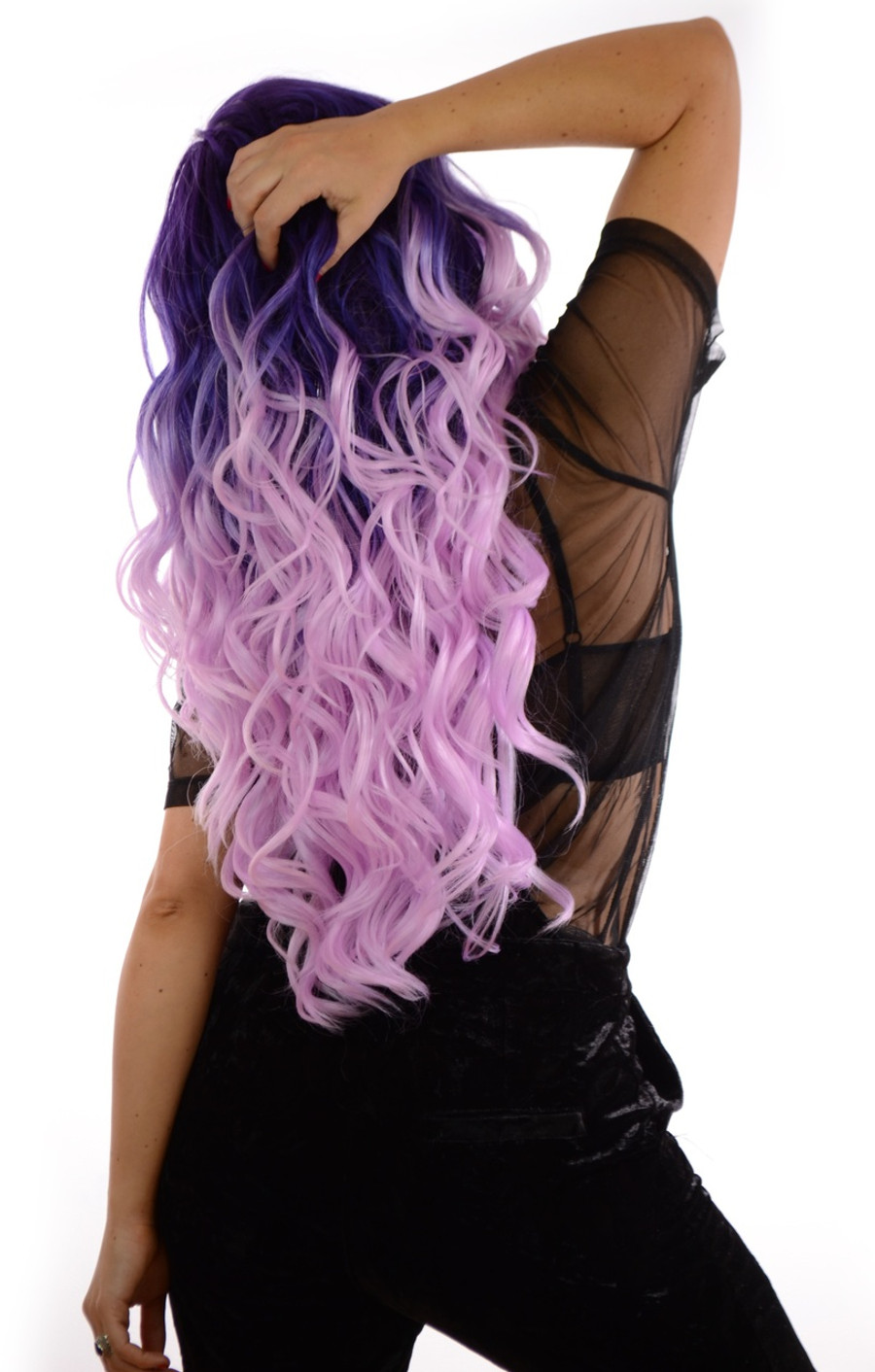 Carnival-Doll Pink Pink Lavender Wig