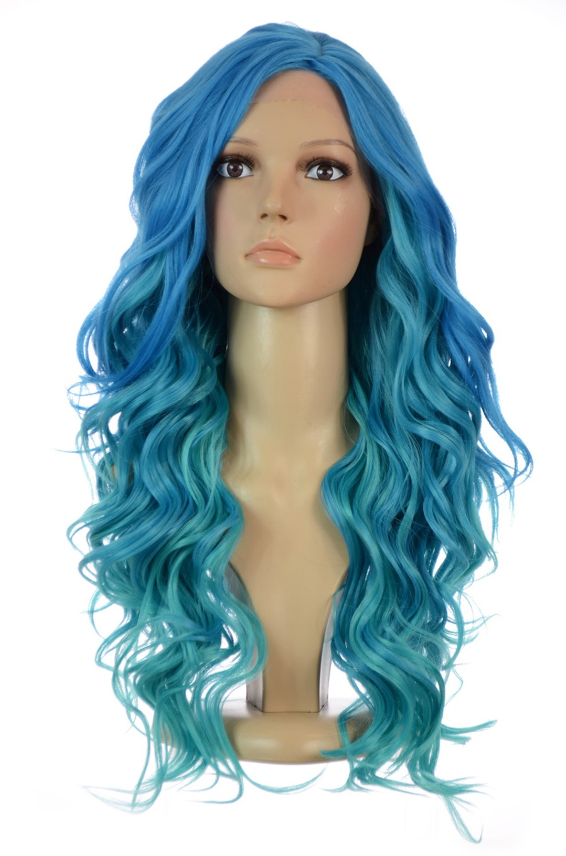 Carnival-Doll Wig in Aegean Blue