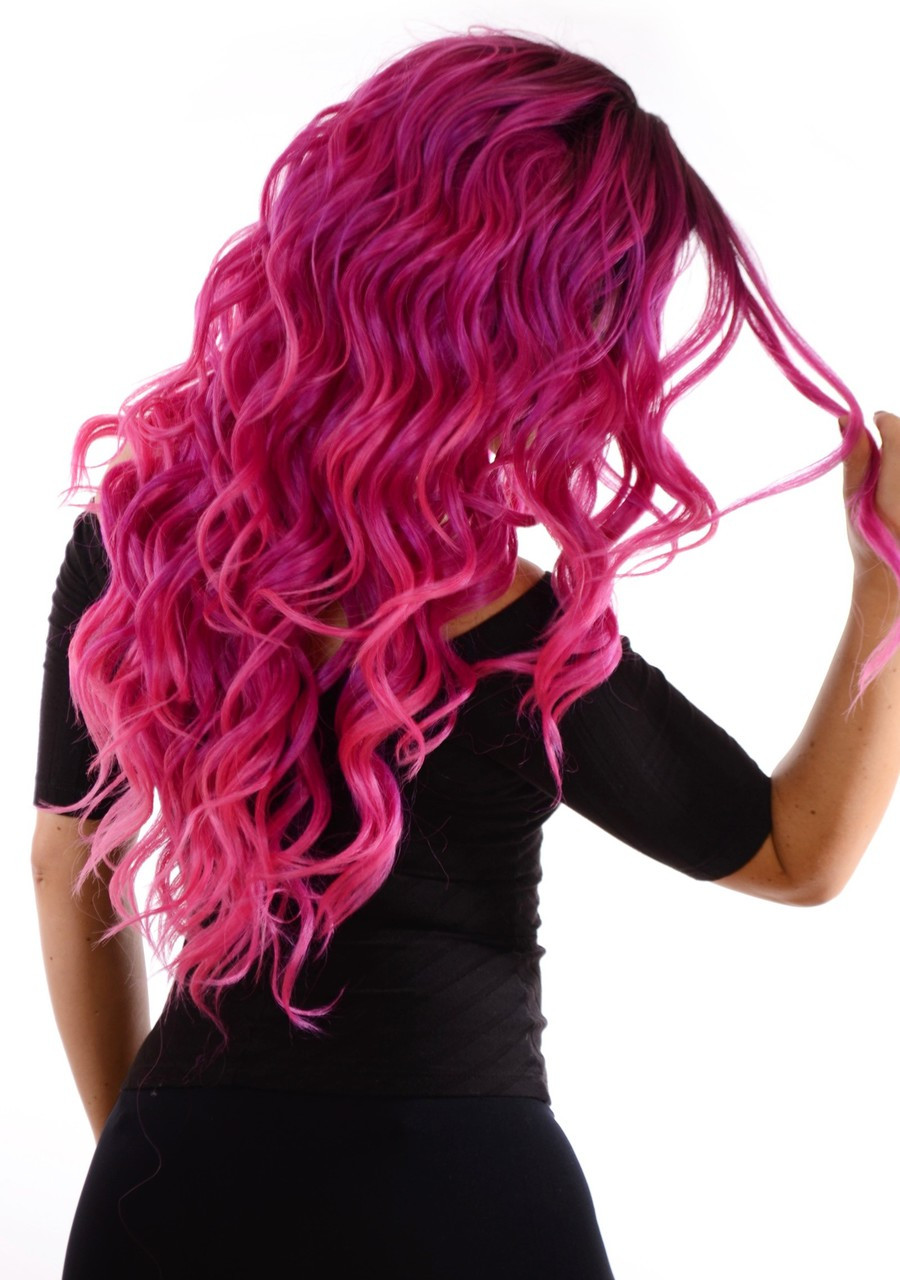 Carnival-Doll Fuchsia Wig Rear View