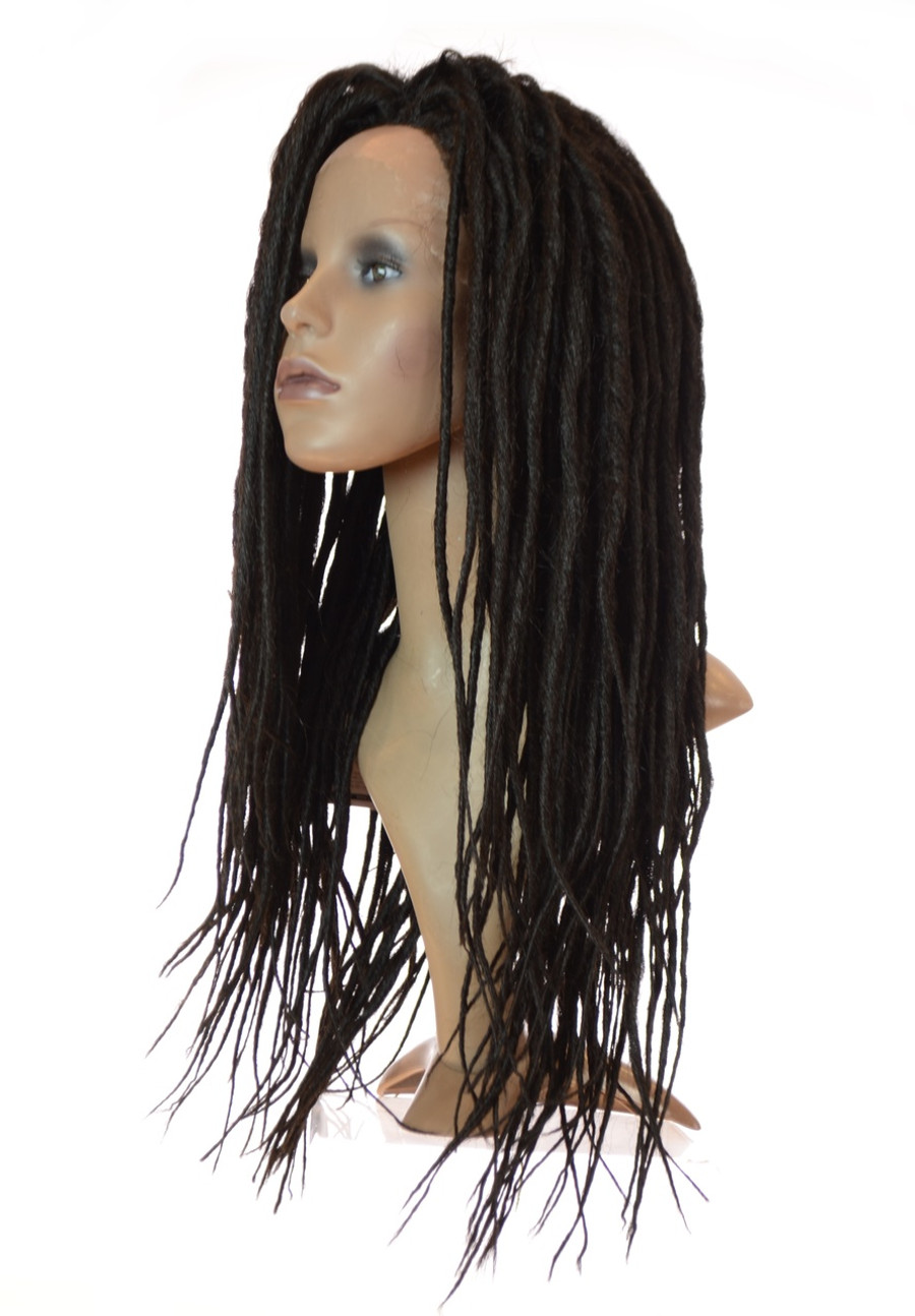 Kira Black Dreadlock Lace front wig