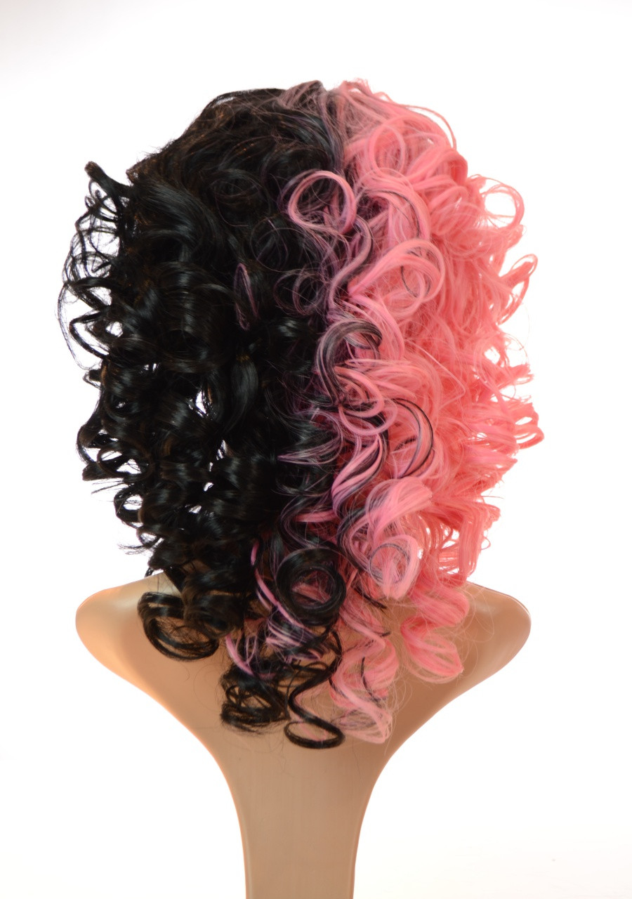 Pink Black Split Shade Mel Wig