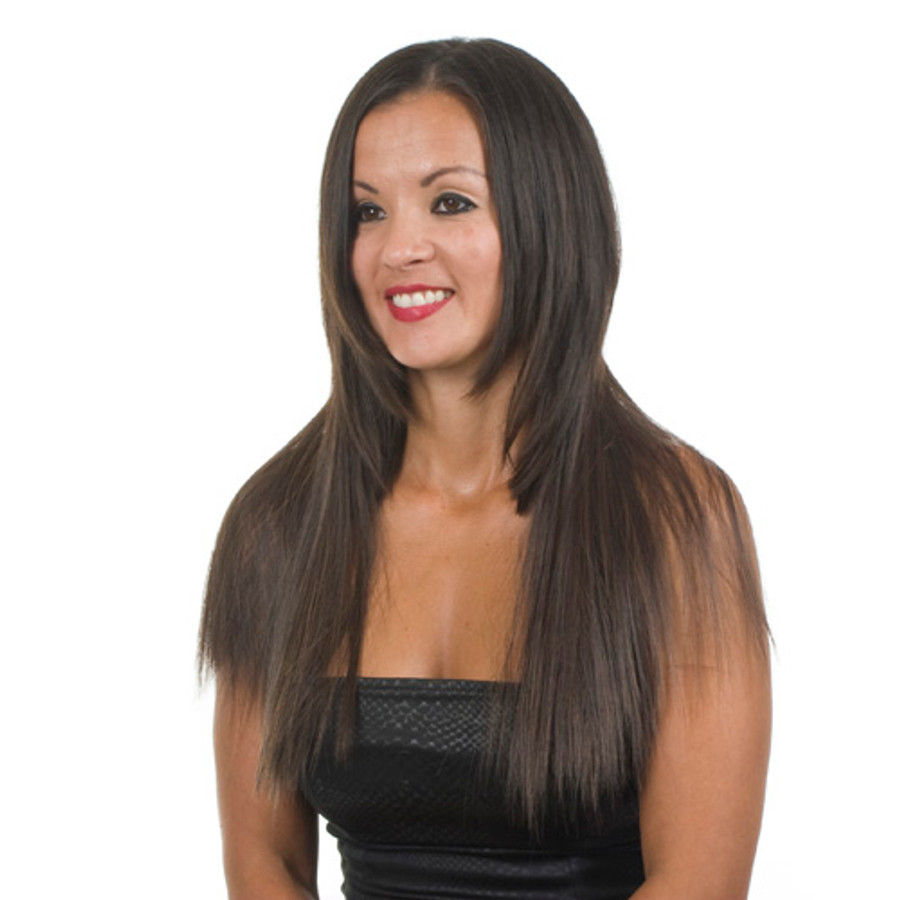 Clip in ManeMaker Straight Hair Weft.