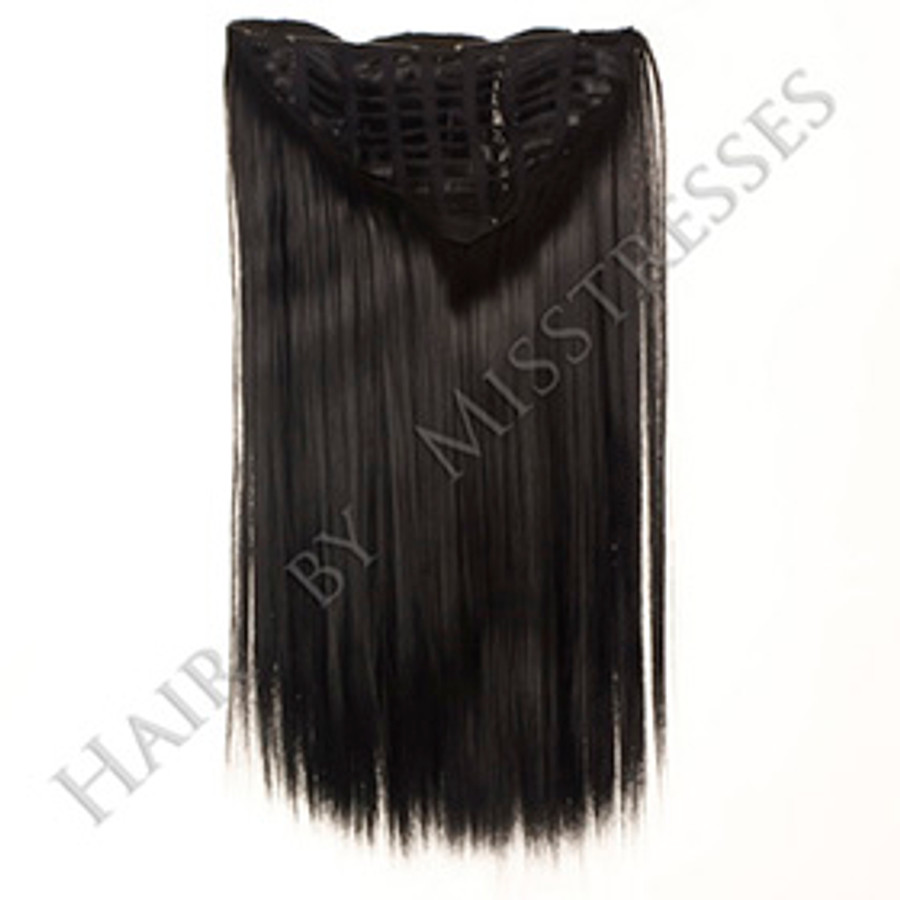 Kona Black Clip in ManeMaker Straight Hair Weft.