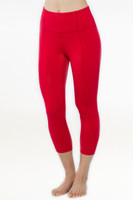 Red Flirt Yoga Capris Leggings