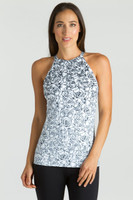 KiraGrace Grace Yoga Halter in Etched Floral