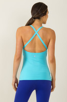 Grace Yoga Halter (Calypso blue)