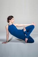 KiraGrace Grace Yoga Halter in Blue Abyss
