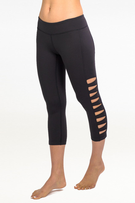 """""""My all time favorite piece from KG is the Warrior Tough Cut Legging. They are super sexy, perfectly edgy, and so comfortable. I get compliments every time wear them."""" - Marni Sclaroff Black Warrior Tough Cut Out Leggings"""