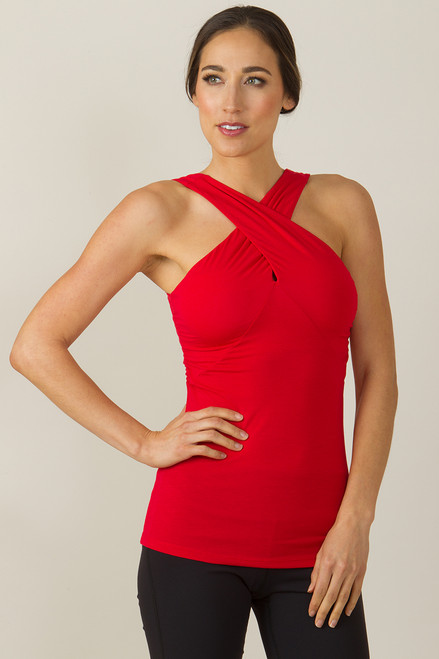 Glamour Goddess Luxe Halter Top Ruby Red