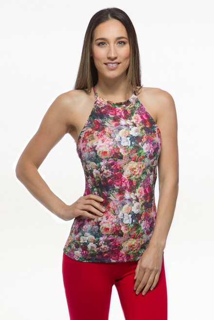 Patterned Halter Yoga Tank Tops