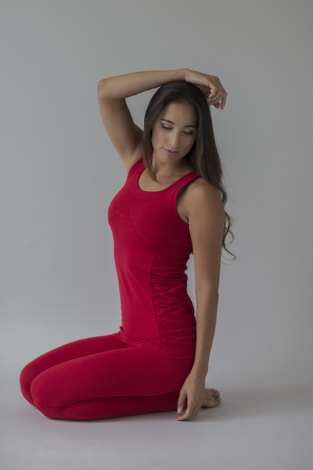 Goddess Yoga Tank in Ruby