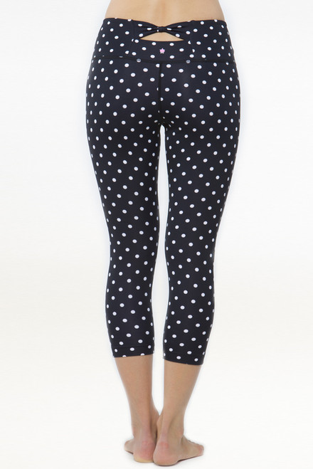 Flirt Polka Dot Yoga Capris Leggings