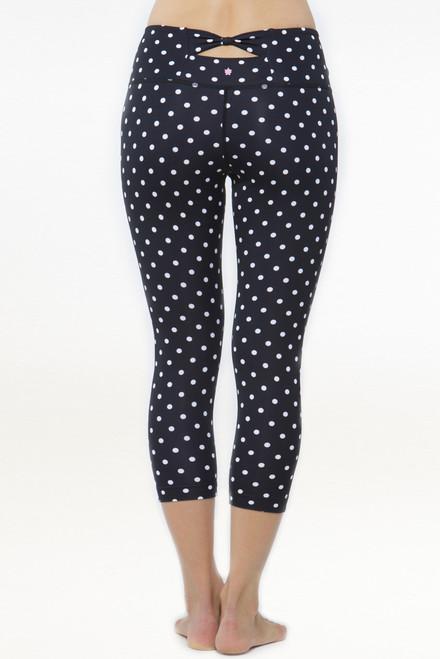 Flirt Polka Dot Yoga Capris Leggings