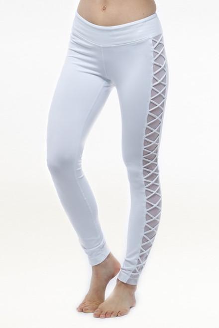 3749711b91 White Romance Yoga Mesh Leggings