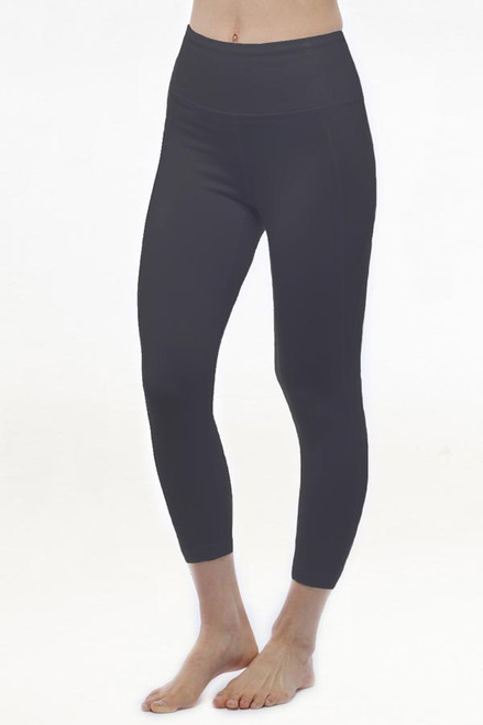 grey High waist yoga capris leggings