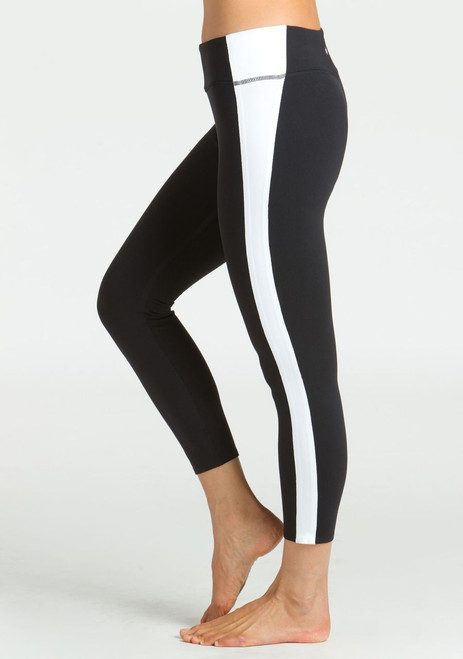 KiraGrace Refined Yoga Legging with White side  seam detailing