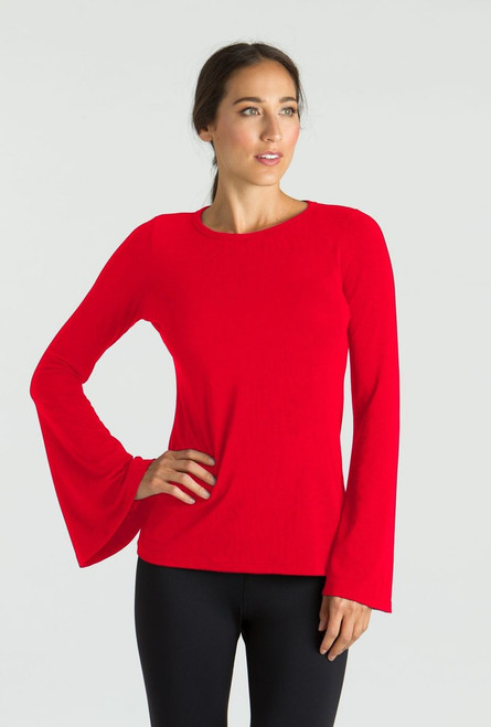 KiraGrace Bell Sleeve Top in Ruby