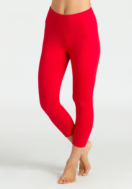 KiraGrace Grace High Waist Yoga Capri in Ruby
