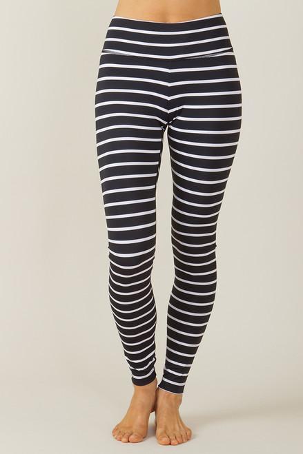 KiraGrace Grace High Waisted Yoga Legging Stripe print